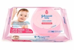 Lenços Umedecidos Johnsons Baby Extra Cuidado 96 Unidades