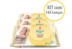 Lenços Umedecidos Johnsons Baby Recém Nascido Kit C/ 03