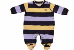 Macacão para Bebê Cotton Marinho e Amarelo Noruega Baby