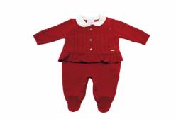 Macacão para Bebê Menina Luxo Vermelho Noruega Baby