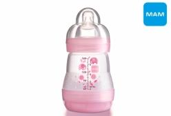 Mamadeira MAM Baby Autoesterilizavel First Bottle 0+ Meses Rosa 160ml