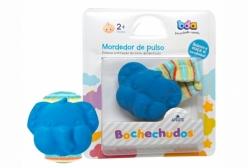 Mordedor para Bebê com Chocalho para Prender no Pulso Azul