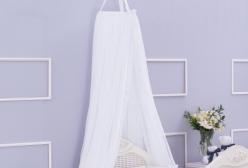 Mosquiteiro de Teto em Voil Branco Laura Ashley - Branco