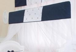 Mosquiteiro de Varal com Bandô para Berço Theodore Marinho
