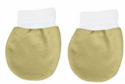 Par de Luvas para Bebê em Malha Caqui