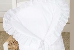 Porta Bebê Bordado Inglês Algodão Doce Branco - Branco