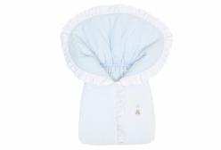 Porta Bebê Bordado Theodore Azul