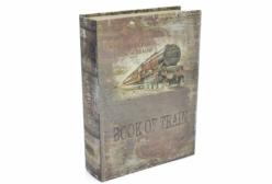 Porta Objetos em Formato de Livro - Book Of Train - 22x14x5cm
