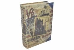 Porta Objetos em Formato de Livro Tema U.S.A - 33x22x7cm