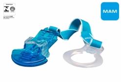 Prendedor de Chupeta MAM Crystal Clip Azul 0+ Meses
