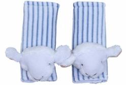Protetor de Cinto de Segurança para Bebê Ovelhinha Plush Azul