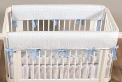 Protetor de Grade para Berço Manhattan Positivo Azul 2 peças