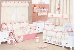 Quarto de Bebê Completo Enxoval Provençal Rosé 17 peças