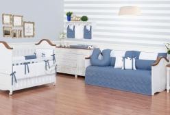 Quarto de Bebê Enxoval Completo Cavalinho Azul Jeans