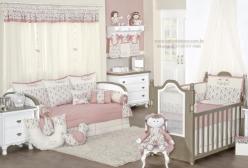 Quarto de Bebê Enxoval Passarinhos Doce Encanto Rosé
