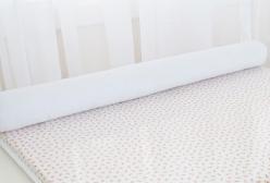 Rolinho para Trocador de Bebê em Piquê Branco com Zíper 01 Peça
