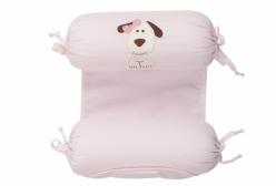 Rolinho Segura Bebê Royal Dog em Piquê Rosa Bordado