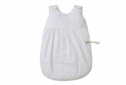 Saco de Dormir para Bebê Percal 400 Fios Royal Branco Laura Ashley