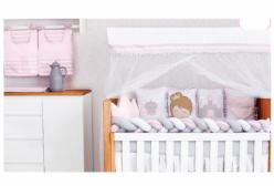 Saia para Berço Baby Magia Princesa Ponto Palito Branco
