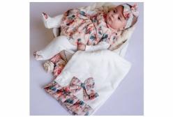 Saída Maternidade Floral em Organza Murano 03 Peças