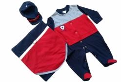 Saída Maternidade Menino Jaqueta Americana 3 Peças