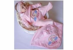 Saída Maternidade Unicórnio Rosa 03 Peças