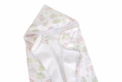 Toalha de Banho para Bebê com Fralda Bella Butterfly Rosa