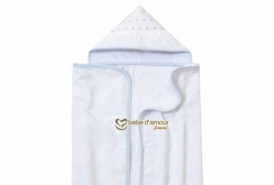 Toalha de Banho para Bebê Revestida em Fralda Solta Bless Azul