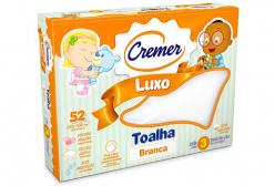 Toalha Fralda Cremer Luxo Branca c/ 03 peças