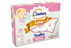 Toalha Fralda Cremer Luxo para Menina c/ 03 peças