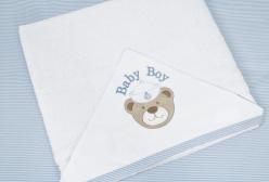 Toalha para Bebê Felpuda com Fralda Solta Navy Azul