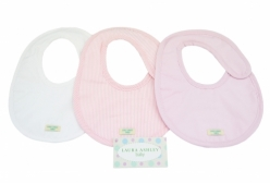 Trio de Babadores Valencia Rosa Laura Ashley - Rosa