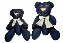 Ursinho em Tecido Luxo Imperial Marinho 2 Peças