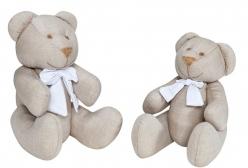 Ursinho em Tecido Nude  P ou G - 1 Peça - Nude