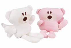 Ursinho para Bebê com Asas em Suedine Matelado 01 Peça - Perola