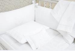 Quarto Completo Flor de Lis Royal Branco 300 Fios Laura Ashley