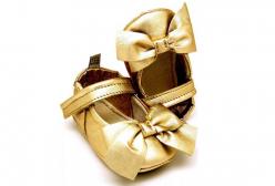 949ad3a7210dd Sapatilha Maria Joaquina Couro Gold MAC Bebê