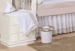 Toalha de Banho Revestida em Fralda Ursinhos Luxo Bege