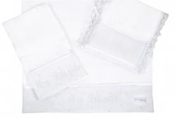 Kit Pano de Boca para Batizado - Branco